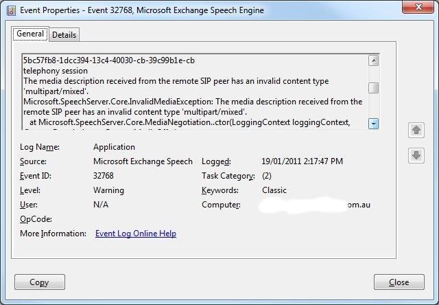 SIP-trunking a Nortel (now Avaya) CS1k to Exchange UM