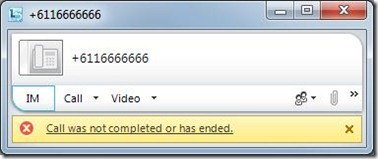 Lync-CallNotCompletedEnded