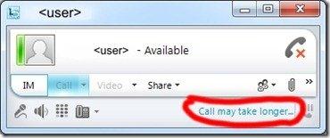 Lync-CAC-CallMayTakeLonger