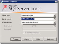 SQL-ConnectToServer
