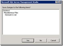 SQL-SaveQuery
