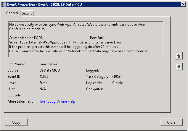 No Connectivity with the Lync Web App | greiginsydney com