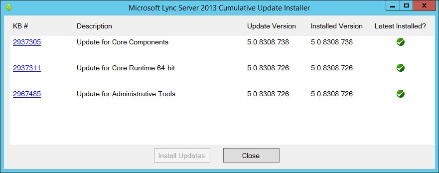 Lync Server 2013 CU5 OcsCore Update Fails | greiginsydney com