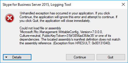 ClsLogger EXE Crashes with Unhandled Exception