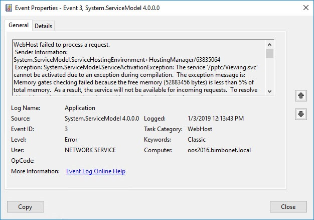 November 2018 updates to Server 2016 break OOS
