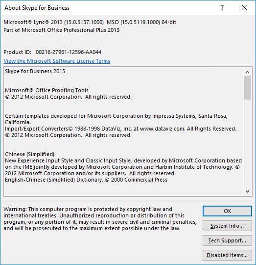 Lync 2013 / SfB 2015 Client Update – June 2019